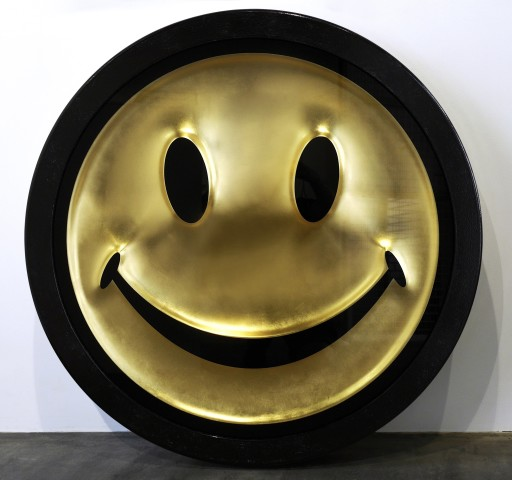 RYCA (Ryan Callanan), Metric Powerpill (Gold Leaf Smiley Face) , 2020