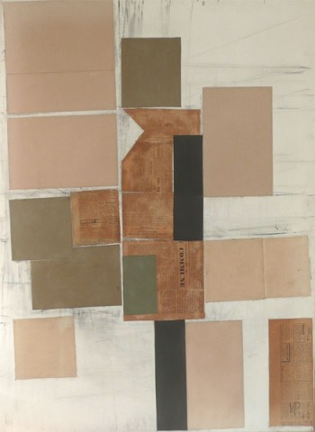 Abstract in Black, White, Grey & Umber