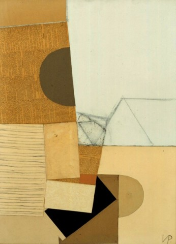 Abstract in Grey and Ochre