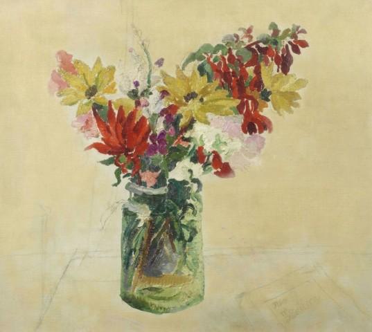 Flowers in a Glass-Jar