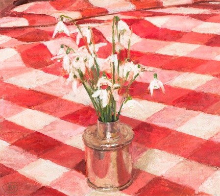 Ben Henriques, Snowdrops in a silver ink well