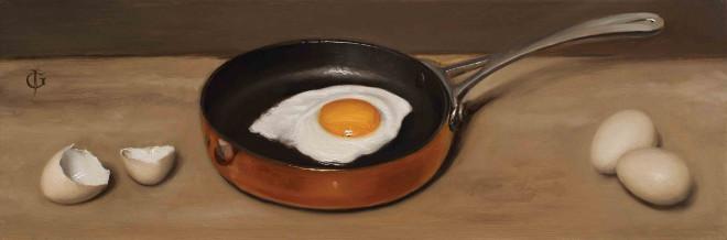 James Gillick, Bantam Eggs & Frying Pan