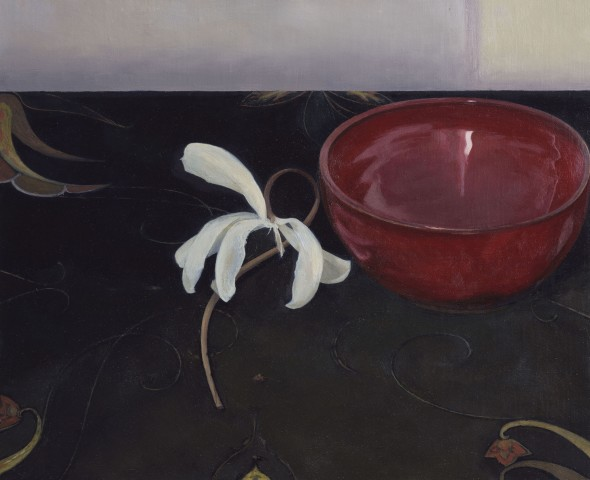 White Flower, Red Bowl