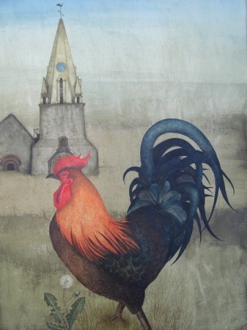 Cockerel at Vale Church