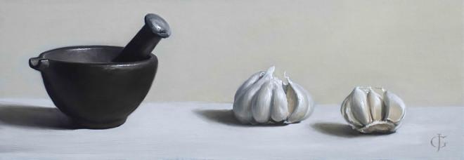James Gillick, Garlic & Iron Pestle & Mortar