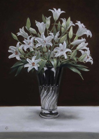 James Gillick, Lillies in a Deco Vase