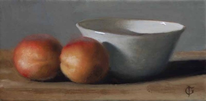James Gillick, Two Nectarines and a Bowl