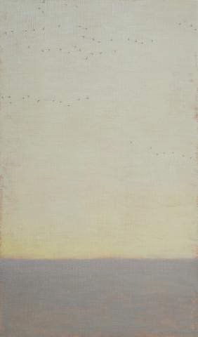 David Grossmann, Strands of Geese on Grey Sky