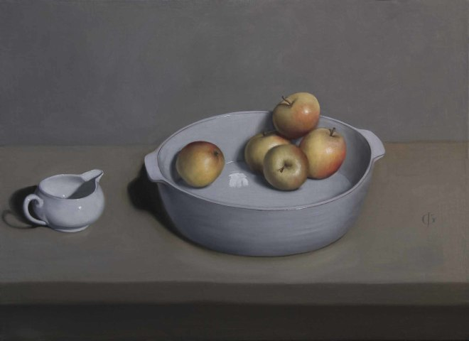 James Gillick, Apples in a Bowl with Jug