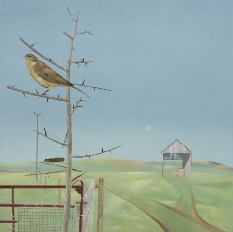 Bird and Rising Moon