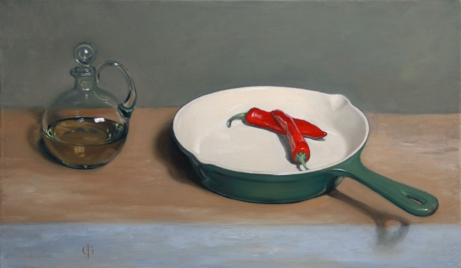 Oil, Sauté Pan & Chillies