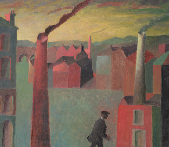 Passing Figure with Chimneys
