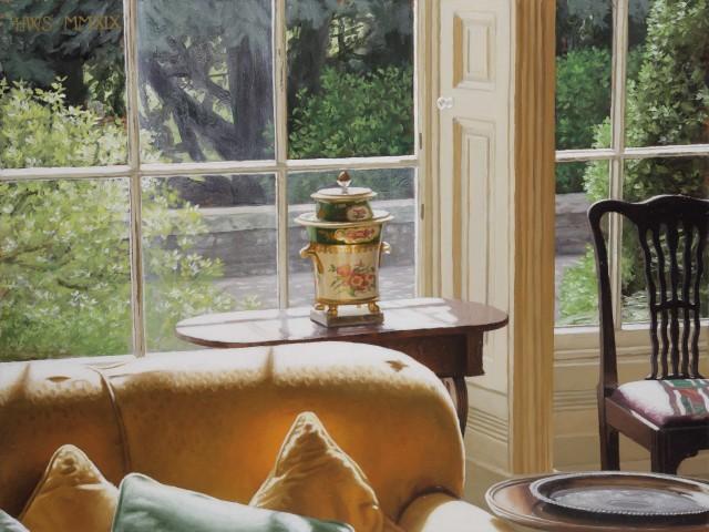 Harry Steen, House in Wales - Urn in Window