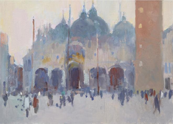 Julia Hawkins, Piazza San Marco, Early Morning