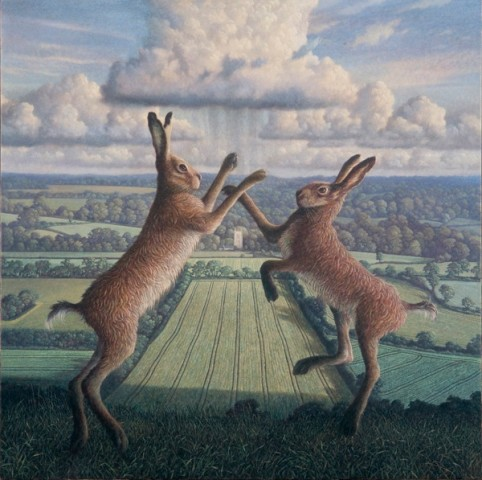 Spring Heralds (Boxing Hares)