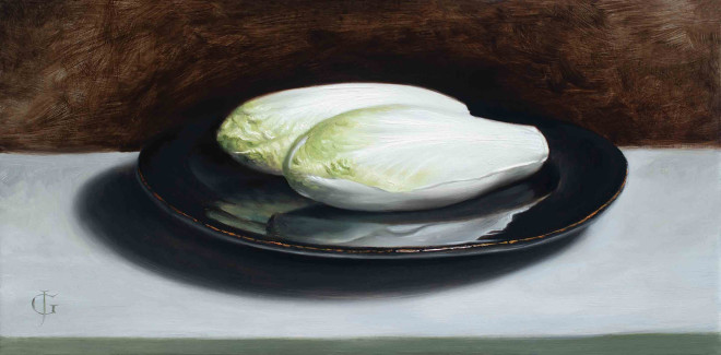 James Gillick, Chicory on a Black Plate