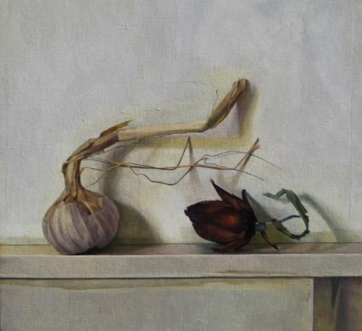 Artichoke Bud and Garlic Stem