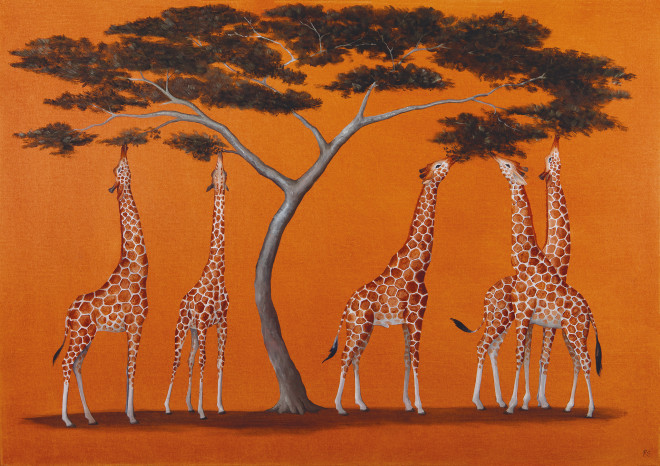 Rebecca Campbell, A Tower of Giraffes