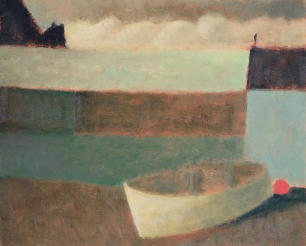 Nicholas Turner, White Boat at Mullion Cove