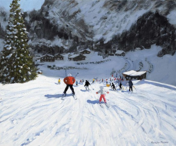 Andrew Macara, Skiing into the Valley, Val Gardena, Italy