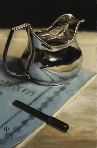 Silver Jug, Pen & Book
