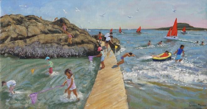 Andrew Macara, Fishing, swimming, sailing, Looe