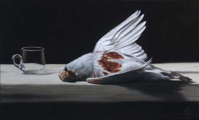 James Gillick, English Partridge & Empty Glass