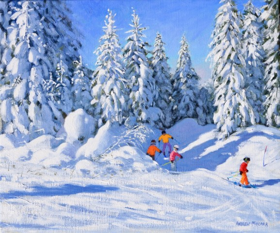 Andrew Macara, Bright Morning and Snow-Covered Trees, Morzine