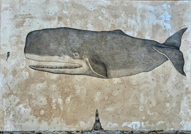 Andrea Collesano, Fluctuat nec mergitur - Whale, 2020