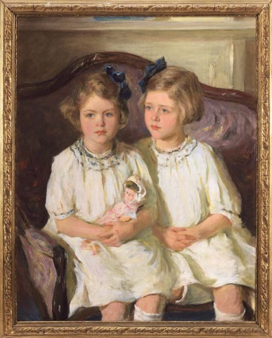 Portrait of Two Girls in White