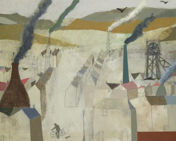 Nicholas Turner, Valley with Chimneys