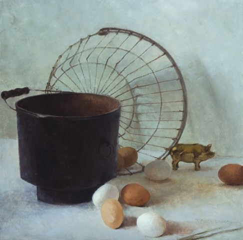 T. Allen Lawson, 20th Anniversary painting, Eggs and Bacon