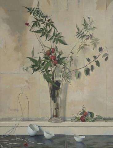 Susan Angharad Williams, Narrow Shelf, Broken Wall, Still Life