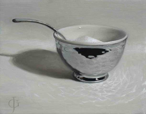 James Gillick, Steel & Ceramic Sugar Bowl