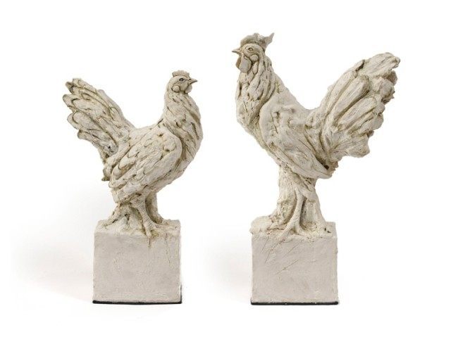 Tanya Brett, Bantam Hen (left) & Cock (right)