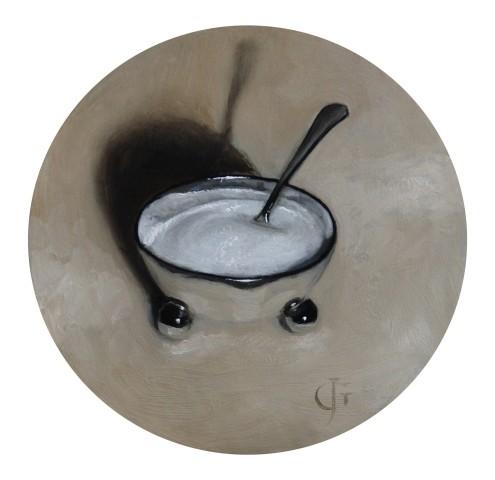 Silver Sugar Bowl with Spoon