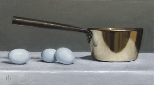 James Gillick, Brass Pan and Blue Eggs