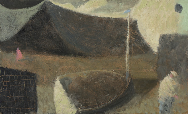Nicholas Turner, Moon, Figure and Sail