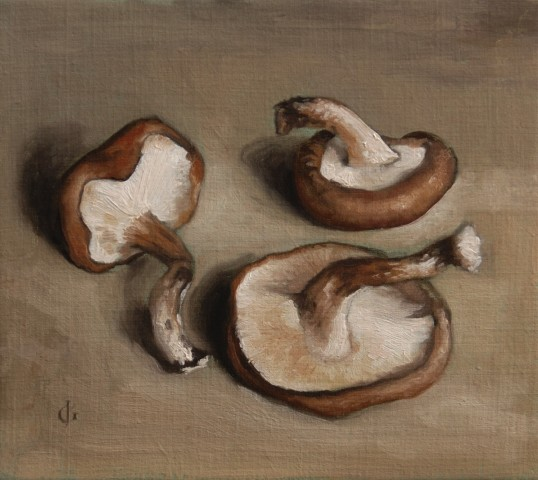 James Gillick, Three Shiitake Mushrooms, 1998