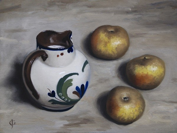 James Gillick, Three Apples & A Jug of Milk