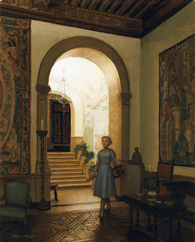 Harry Steen, Music Room, Dumbarton Oaks (Study)