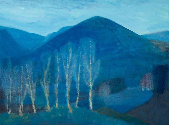 Jane MacNeill, Blue Mountain with Silver Birches (Carn Eilrig), 2019