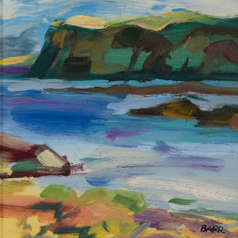 Shona Barr, Coastal Cliffs (study), 2019