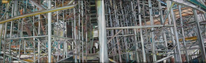Patricia Cain rgi neac ps, Little Arena Diptych, 2013