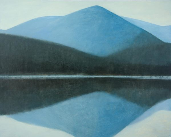 Jane MacNeill, Snow Mountain with Reflection (Carn Eilrig), 2018