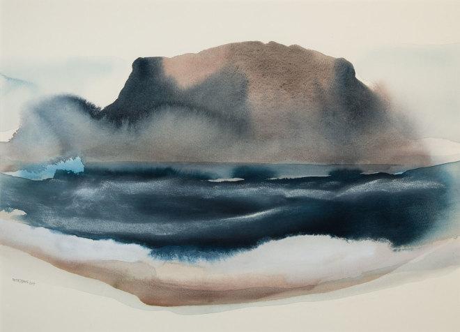 Peter Davis, Snarraness (rough sea), 2017
