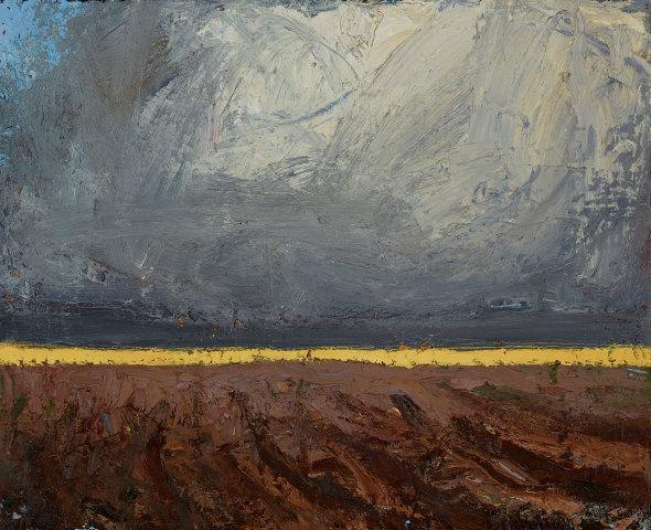 Allan MacDonald, sunlight, ploughed field, 2019