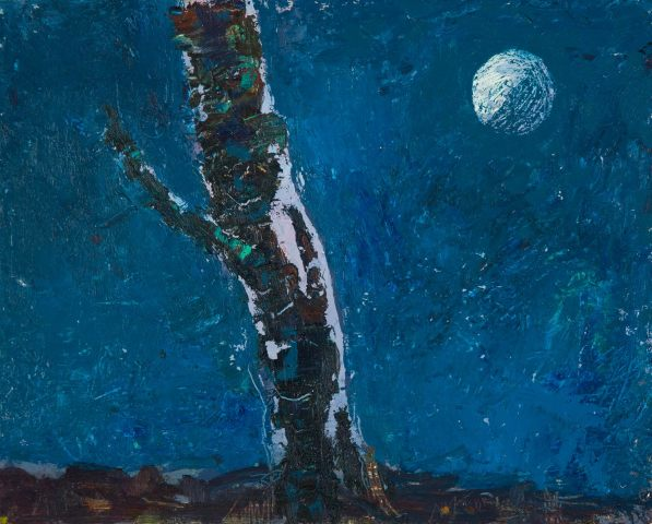 Allan MacDonald, small moon and birch