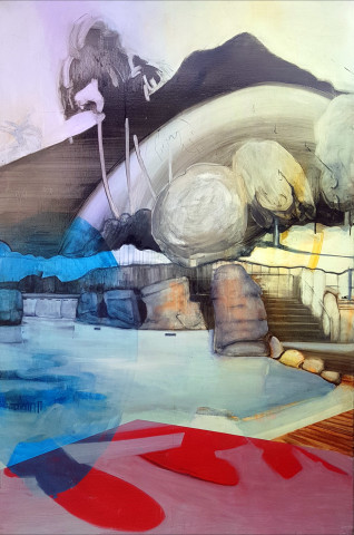 Louise Thomas, Lazy river rapids 1000 years from now, , 2019