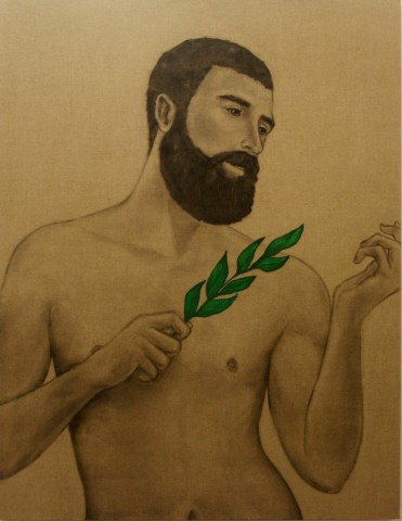 Mathew Tom, Disciple with Leaves, Spring, 2013